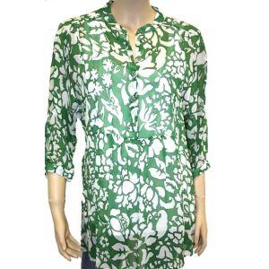 Adelina  Damen Tunika ó Arm florales Muster 84459