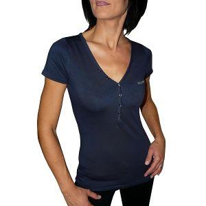 MIJAS Damen T-Shirt mit Chrystal Print Art. 55018