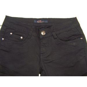Camille Damen-Baumwoll-Jeans 013,schwarz