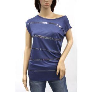 Fresh Made Damen T-Shirt Pailletten D1209D00054A
