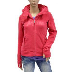 Fresh Made Damen Fleece-Jacke mit Kapuze D1400A08090