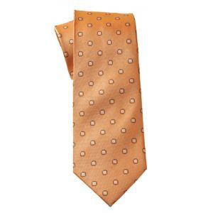 MIJAS Krawatte Design 1 apricot/brown/white