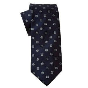 MIJAS Krawatte Design 1 navy/silver/sky
