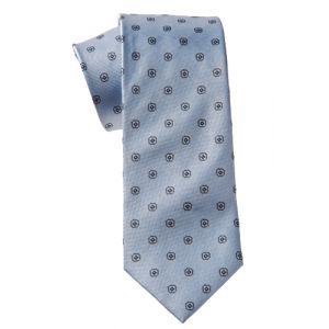 MIJAS Krawatte Design 1 sky/anthracit/navy