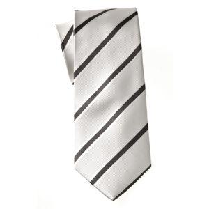 MIJAS Krawatte Design 2 creme/silver/anthracit