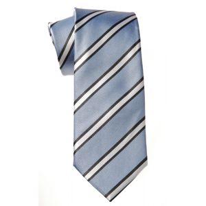 MIJAS Krawatte Design 2 sky/anthracit/white