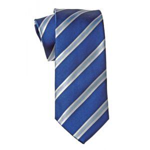MIJAS Krawatte Design 2 royal/white/sky