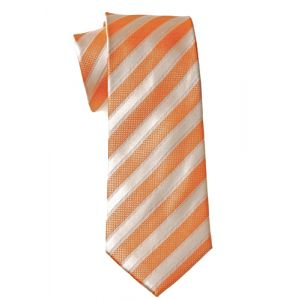 MIJAS Krawatte Design 4 apricot/cream