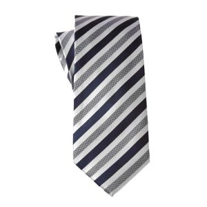 MIJAS Krawatte Design 5 navy/white