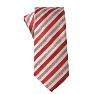 MIJAS Krawatte Design 5 red/white