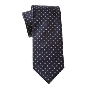 MIJAS Krawatte Design 8 navy/white