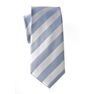 MIJAS Krawatte Design 9 sky/white
