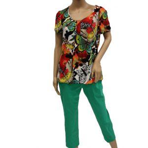 Adelina Damen T-Shirt mit Druck 83168 - Bis Größe 44 -