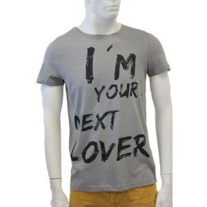 98-86 Herren T-Shirt 1/2 Arm mit Druck H1646S22042A