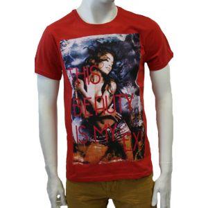 Stitch&Soul Herren T-Shirt 1/2 Arm mit Frauendruck - H1618W22049A -