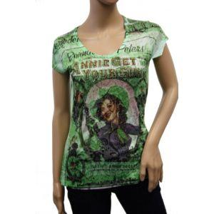 KY Creation Damen T-Shirt 1/2 Arm Allover Druck 15TX69