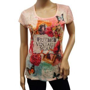 KY Creation Damen T-Shirt 1/2 Arm Allover Druck 15TX92