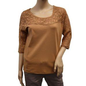 Fresh Made Damen Shirt mit Spitze D1591D00726A