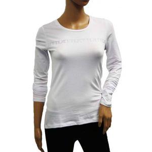 Jette Joop Damen Longshirt mit Strass-Schriftzug - 84056 -