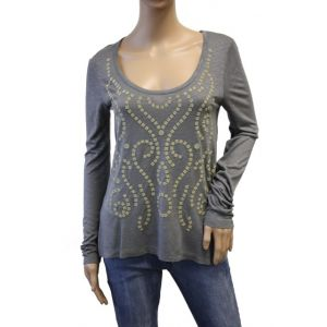 Sublevel Damen Longshirt mit Goldprint D1933V00691A