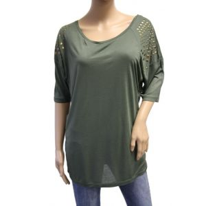 Stitch&Soul Damen Longshirt mit Nieten D1282Y00597A