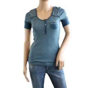 Rock Angel Damen T-Shirt 1/2 Arm mit Spitzenbesatz - D1664D00551ARS