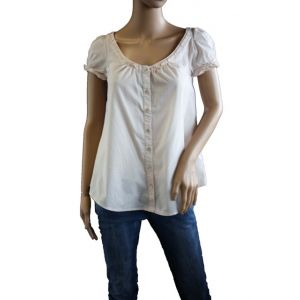 """Fresh Made Damen Bluse mit Puff""""rmel D7016N10221A"""