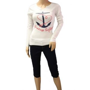 Sublevel Damen Longshirt mit Druck D9351W903A