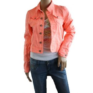 Sublevel Damen Jeans-Jacke Neon Farben D8861E43105A