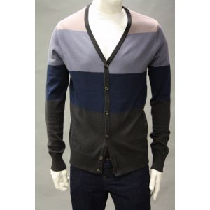 Eight2Nine Herren Strickjacke gestreift H9600W90208AEN