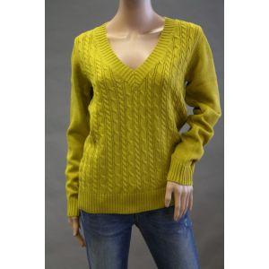 Z-One Damen Pullover mit Zopfmuster 887959888 - Bis Größe 48 -