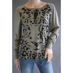 Olsen Damen Pullover mit Animalprint 11001470