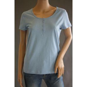 Z one Damen Basic-Tshirt mit Knopfleiste 741108-888