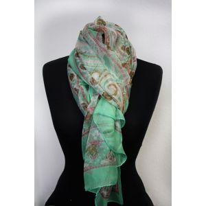 Damen Schal mit Paisley und Blumenmuster 75411