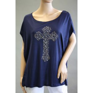 Urban Surface Damen T-Shirt mit Nietenkreuz - D1282Y00622A -